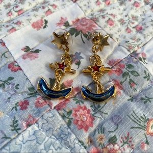 Vintage 90s Anchor Earrings